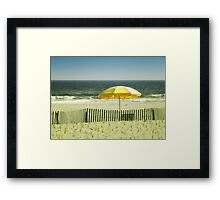 Sitting By The Shore Framed Print