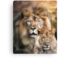 Wild Generations - Lions Canvas Print