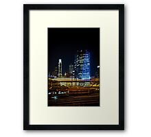 Night Across the Train Yard Framed Print