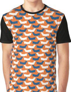 dachshund - orange and navy Graphic T-Shirt