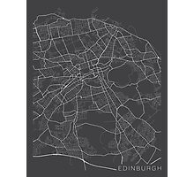 Edinburg Map, Scotland - Gray Photographic Print