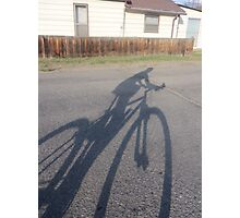 In the Shadows....a bike Photographic Print