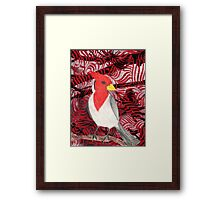 Red Crested Cardinal Collage Framed Print