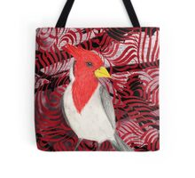 Red Crested Cardinal Collage Tote Bag
