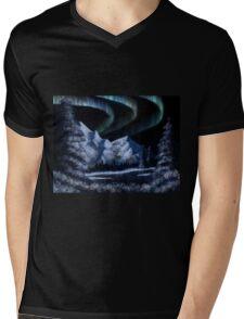 Bob Ross Alaskan Northern Lights Mens V-Neck T-Shirt