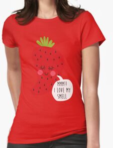 strawberry smell Womens Fitted T-Shirt