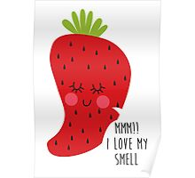 strawberry smell Poster