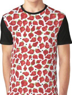 Strawberry on white Graphic T-Shirt