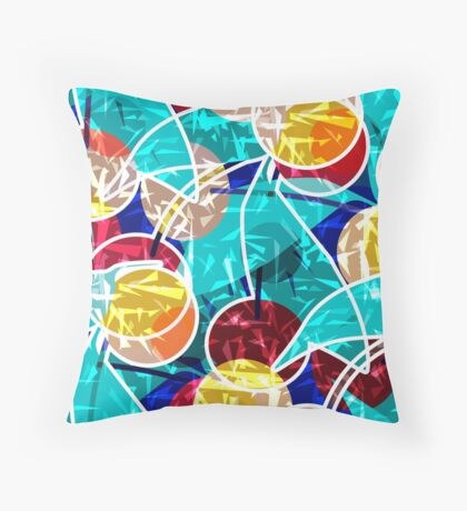Abstraction . Cherry. Throw Pillow