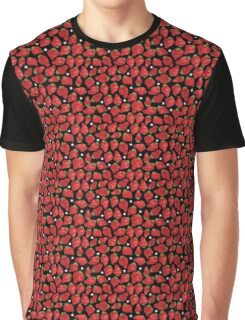 Strawberry on black Graphic T-Shirt