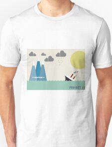 Titanic on sea Unisex T-Shirt