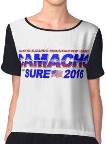 CAMACHO / not SURE - 2016 for Presidential - Idiocracy Party Chiffon Top