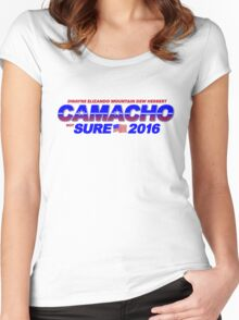 CAMACHO / not SURE - 2016 for Presidential - Idiocracy Party Women's Fitted Scoop T-Shirt