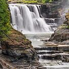 Genesee River Lower Falls at Letchworth by Kenneth Keifer