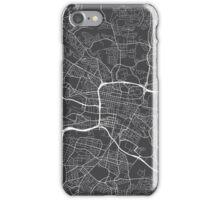 Glasgow Map, Scotland - Gray iPhone Case/Skin