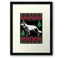 German Shepherd Ugly Christmas Sweater Framed Print