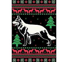 German Shepherd Ugly Christmas Sweater Photographic Print