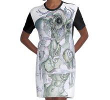 Supernatural Demon Graphic T-Shirt Dress