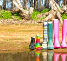 Youanmite gumboots. Sticker