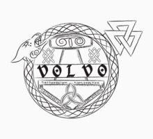 Ancient Volvo Logo with Jörmungandr One Piece - Long Sleeve