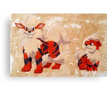 Growlithe Evolution Canvas Print