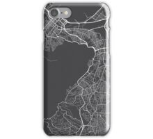 Cape Town Map, South Africa - Gray iPhone Case/Skin