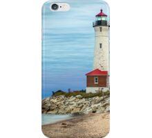 Crisp Point Lighthouse at Sundown iPhone Case/Skin