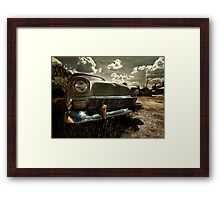 Abandoned 1956 Chevy Belair Framed Print