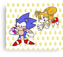 Sonic and Tails Canvas Print