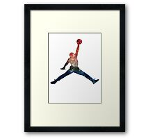 Galaxy Jump Man Framed Print