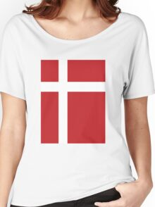 Danish Flag Women's Relaxed Fit T-Shirt