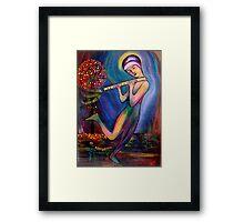 Mystical Flute Player Framed Print