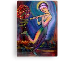 Mystical Flute Player Canvas Print