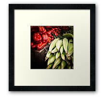 Corn and Peppers at the Market Framed Print