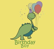 Baby Dinosaur Birthday Boy Kids Tee