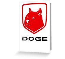 Doge Ram Greeting Card
