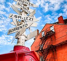 Street Sign in Boston's Little Italy by Mark Tisdale