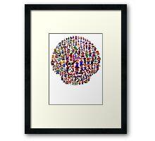 Mario Mushroom Framed Print