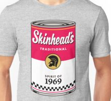 Skinhead Traditional Beer Can Unisex T-Shirt
