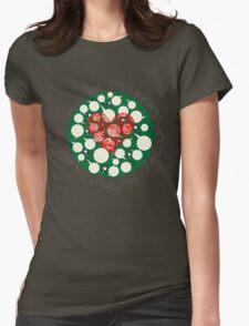 Broken Heart Ticks in Green Womens Fitted T-Shirt
