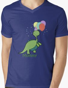 Baby Dinosaur Mommy Mens V-Neck T-Shirt