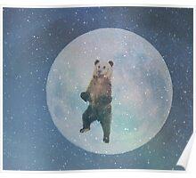 Bear Moon Poster