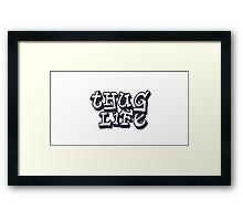 Thug Life Framed Print