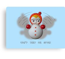 Can't Keep Me Down!  Roly-poly doll as Symbol of Resilience Canvas Print