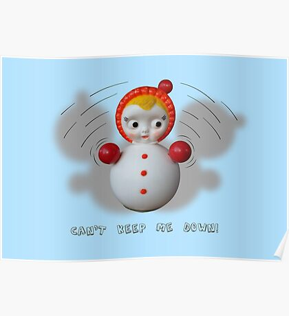 Can't Keep Me Down!  Roly-poly doll as Symbol of Resilience Poster