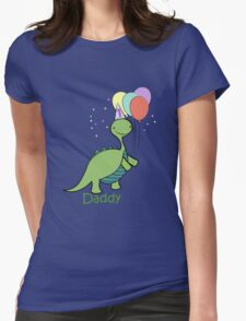 Baby Dinosaur Daddy Womens Fitted T-Shirt