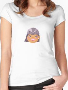 Kids With Animal Beanie - Penguin Women's Fitted Scoop T-Shirt