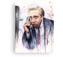 Nicolas Cage | A Vampire's Kiss | Watercolor Painting Canvas Print