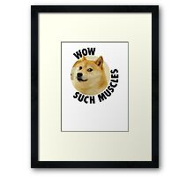 Such Muscles- Doge Framed Print