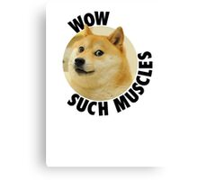 Such Muscles- Doge Canvas Print